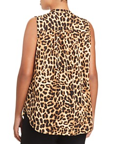 VINCE CAMUTO Plus - Sleeveless Leopard-Print Top