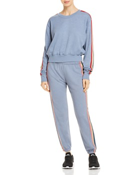 Spiritual Gangster - Track Stripe Cropped Sweatshirt
