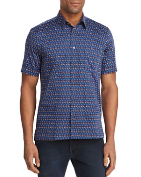 Paul Smith - Geometric Print Slim Fit Button-Down Shirt