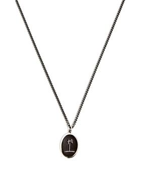 "MIANSAI - Palm Oxidized Sterling Silver Pendant Necklace, 12"""