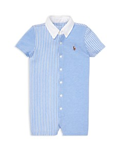 Ralph Lauren - Boys' Fun Oxford Romper - Baby