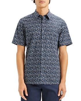 Theory - Irving Geometric-Print Short-Sleeve Slim Fit Shirt