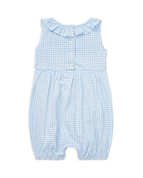 Ralph Lauren - Girls' Ruffled Gingham Cotton Romper - Baby