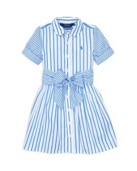Ralph Lauren - Girls' Mixed-Stripe Fit-and-Flare Dress - Little Kid
