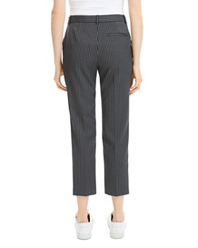Theory - Striped Wool Cropped Pants