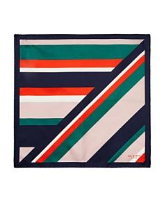 Ted Baker - Nan Stripe Silk Pocket Square