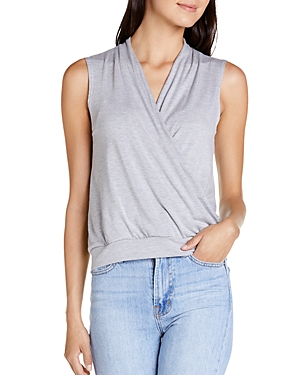 Michael Stars Tops ARIE WRAP-FRONT TANK