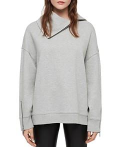 ALLSAINTS - Bella Zip Detail Sweatshirt