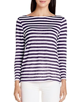 Michael Stars - Kelly Striped Linen Tee