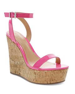 623ba4244aafb MICHAEL Michael Kors Women s Abbott Leather Platform Wedge Sandals ...