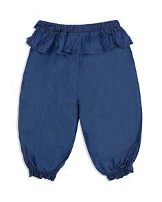 Habitual Kids - Girls' Ashlyn Tie-Front Ruffled Chambray Jogger Pants - Baby
