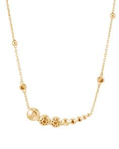 """JOHN HARDY - 18K Gold Dot Hammered Pavé Diamond Station Necklace, 16"""""""
