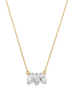 "Adina Reyter - 14K Yellow Gold Marquise-Cut Diamond Pendant Necklace, 16"""