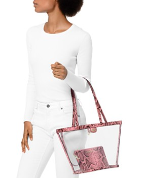 6bfab316b3af4 ... MICHAEL Michael Kors - Medium Rita Clear Bucket Tote Bag - 100%  Exclusive