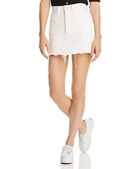 Levi's - Deconstructed Denim Mini Skirt in White Dove - 100% Exclusive
