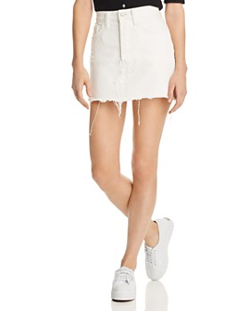 e2bd0b17696f Levi's - Deconstructed Denim Mini Skirt in White Dove - 100% Exclusive ...