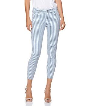 f85dac726e1 PAIGE - Verdugo Crop Skinny Jeans in Sky Blue Stripe ...
