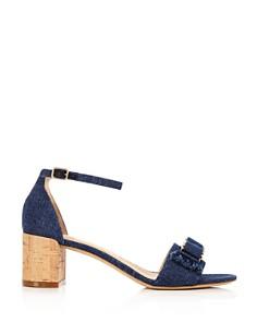Salvatore Ferragamo - Women's Gavina Jeans Cork Heel Sandals