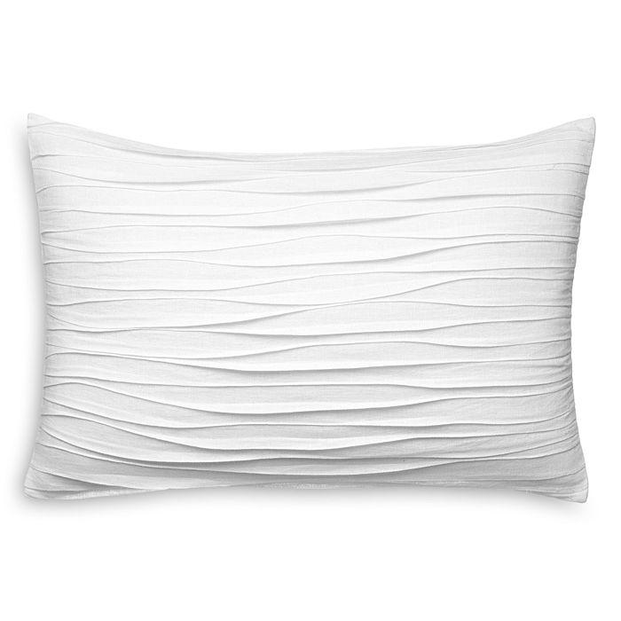 "Vera Wang - Waves Decorative Pillow, 15"" x 22"""