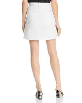 7 For All Mankind - Denim Mini Skirt in White Runway Denim