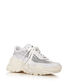 Joshua Sanders - Women's Zenith Mixed Media Lace-Up Sneakers