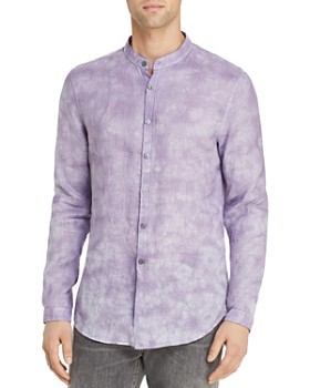 John Varvatos Collection - Tie-Dyed Banded-Collar Slim Fit Shirt