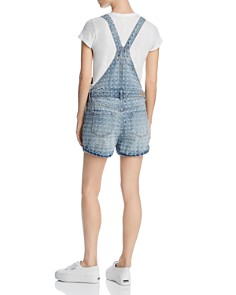 BLANKNYC - Distressed Denim Shortalls in Punch Line
