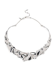 "Alexis Bittar - Crumpled Collar Necklace, 16"""