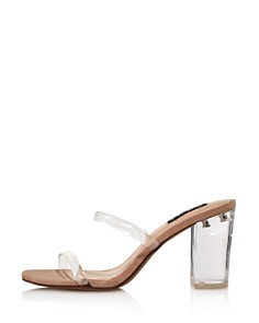 AQUA - Women's Adele Open-Toe Block High-Heel Sandals - 100% Exclusive