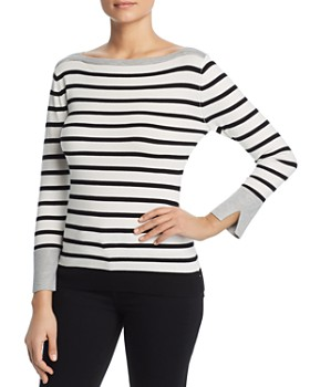 Sioni - Striped Boatneck Sweater