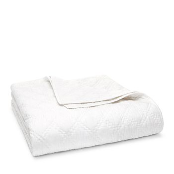 John Robshaw - Lila White Quilt Coverlet, King - 100% Exclusive