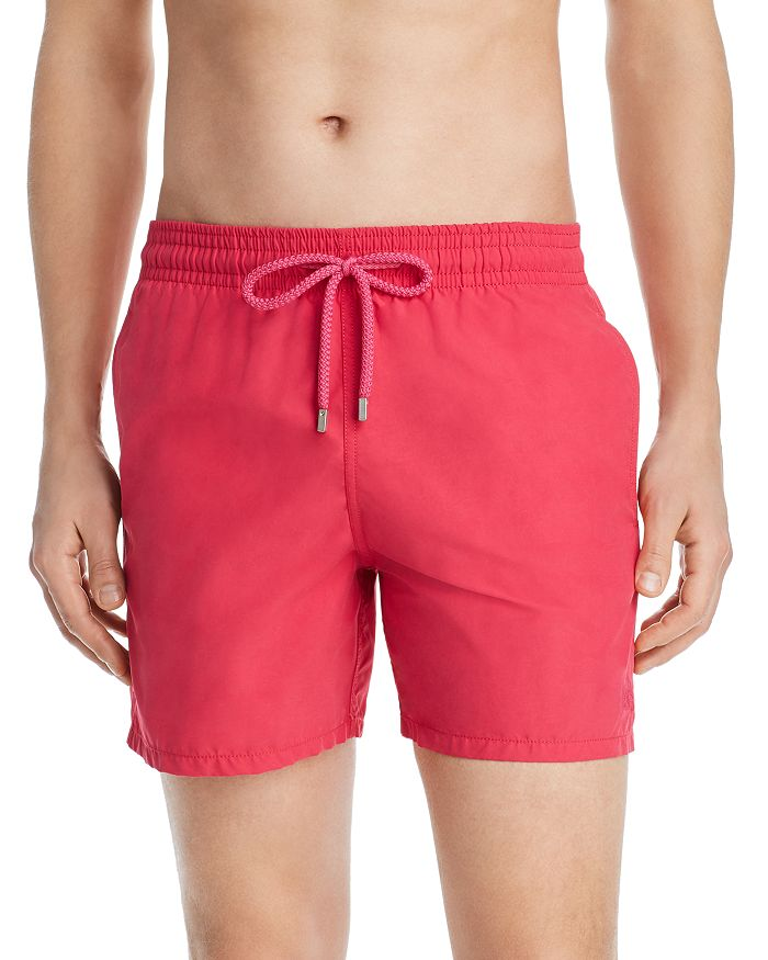 Vilebrequin Men Swimwear - Men Water-Reactive Swimwear Tulum - Swimming Trunk - Moorea In Red