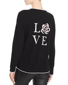 Minnie Rose - Intarsia-Love Cashmere Sweater