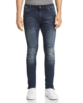 ef5aa4c8ca G-STAR RAW - 5620 3D Ankle Zip Skinny Fit Jeans in Authentic Dark Aged ...