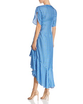 Paper London - Colorado Gingham Silk Wrap Dress