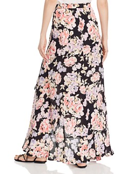 Band of Gypsies - Seville Floral Wrap Maxi Skirt