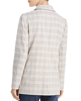 The Fifth Label - Violet Double-Breasted Checked Blazer