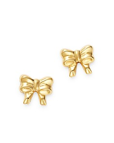 Moon & Meadow - 14K Yellow Gold Bow Stud Earrings - 100% Exclusive