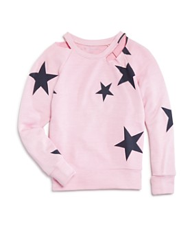 bfa86182a Flowers by Zoe - Girls  Cold-Shoulder Star Sweatshirt - Little Kid ...