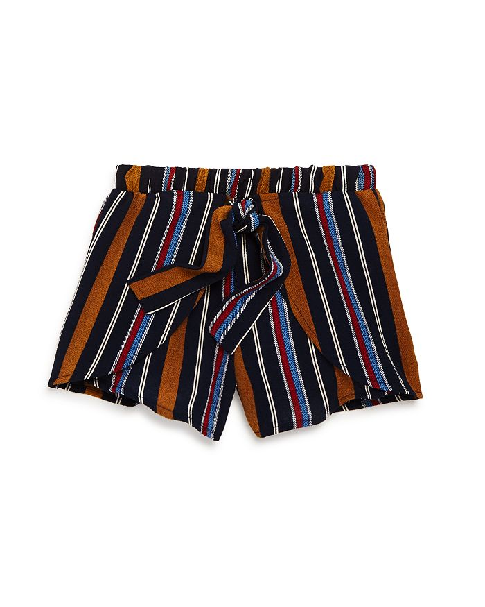 Vintage Havana - Girls' Striped Tie-Front Shorts - Big Kid