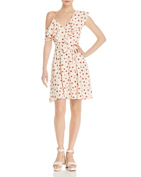 3ce1f44509 AQUA - One-Shoulder Floral-Print Dress - 100% Exclusive ...