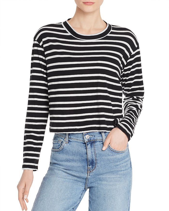 27a677594d LNA Honey Striped Long-Sleeve Tee | Bloomingdale's