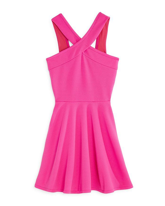 AQUA - Girls' V-Neck Textured Skater Dress, Big Kid - 100% Exclusive