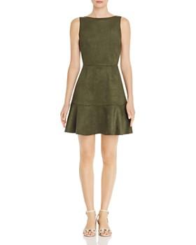 ee134e0e630e AQUA - Sleeveless Faux-Suede Dress - 100% Exclusive ...