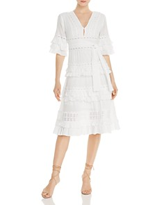 AQUA - Ruffle-Trim Midi Dress - 100% Exclusive