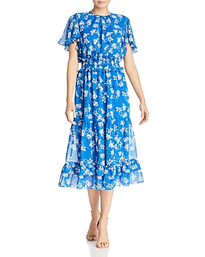 Shoshanna Dresses VILLA FLORAL FLUTTER MIDI DRESS - 100% EXCLUSIVE
