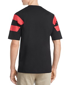 Fred Perry - Stripe-Printed Paneled-Sleeve Tee