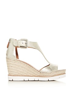 Gentle Souls by Kenneth Cole - Women's Raquel T-Strap Wedge Platform Sandals