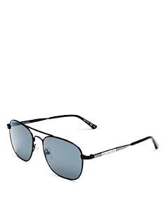 Balenciaga - Unisex Mirrored Brow Bar Square Sunglasses, 55mm