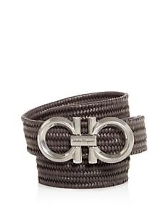 Salvatore Ferragamo - Gancini Buckle Woven Leather Belt